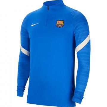 Sweat zippé FC Barcelone Strike bleu blanc 2021/22