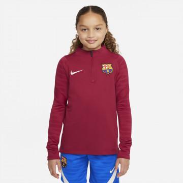 Sweat zippé junior FC Barcelone Strike rouge 2021/22