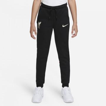 Pantalon survêtement junior Liverpool Fleece noir blanc 2021/22