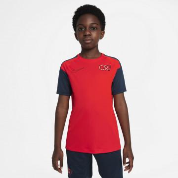 Maillot entraînement junior Nike CR7 rouge noir