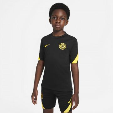 Maillot entraînement junior Chelsea noir jaune 2021/22