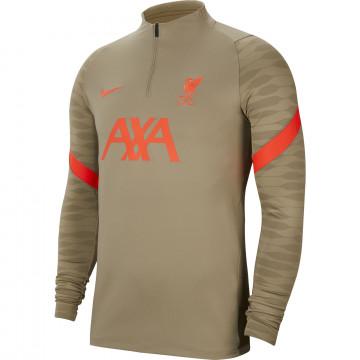 Sweat zippé Liverpool beige rouge 2021/22