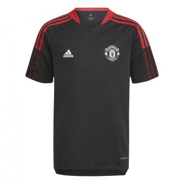 Maillot entraînement junior Manchester United noir rouge 2021/22