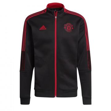 Veste survêtement Manchester United Anthem noir rouge 2021/22