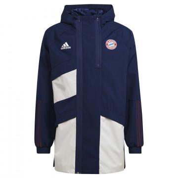 Manteau Bayern Munich bleu blanc 2021/22