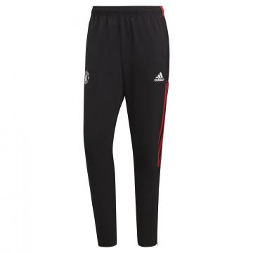 Pantalon entraînement Manchester United noir rouge 2021/22