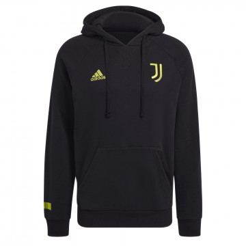 Sweat à capuche Juventus noir jaune 2021/22