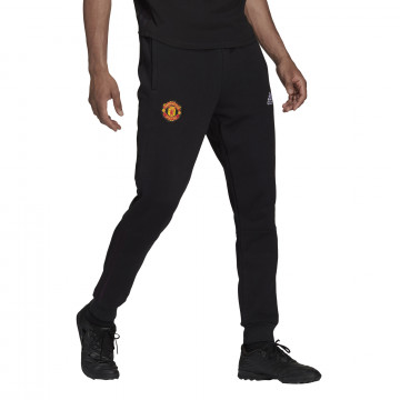 Pantalon survêtement Manchester United molleton noir 2021/22