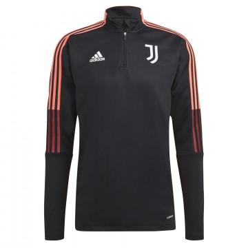 Sweat zippé Juventus noir rose 2021/22