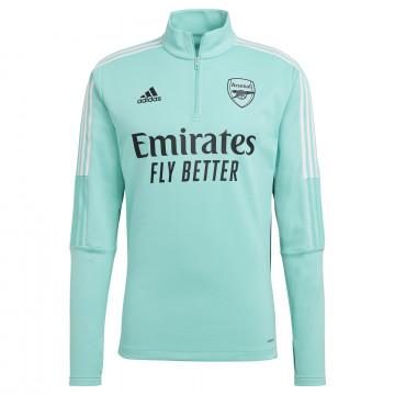 Sweat zippé col montant Arsenal vert 2021/22