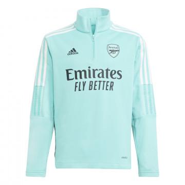Sweat zippé col montant junior Arsenal vert 2021/22