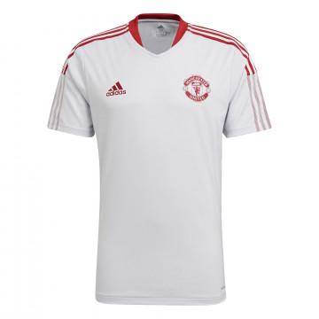 Maillot entraînement Manchester United blanc rouge 2021/22