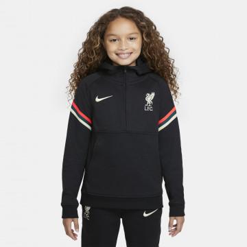 Sweat zippé junior Liverpool Fleece noir blanc 2021/22