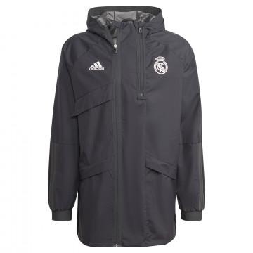 Manteau Real Madrid noir blanc 2021/22