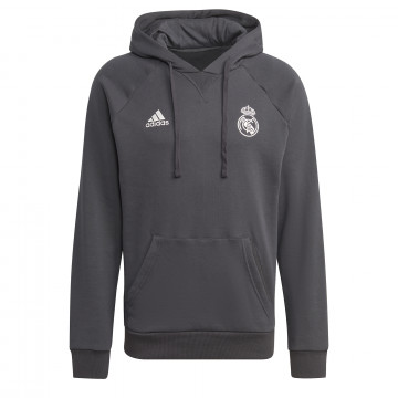 Sweat à capuche Real Madrid noir 2021/22