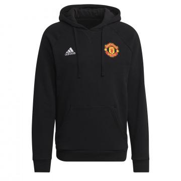 Sweat à capuche Manchester United noir 2021/22
