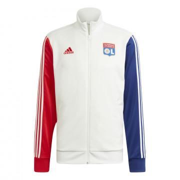 Veste survêtement Olympique Lyonnais 3S rouge bleu 2021/22
