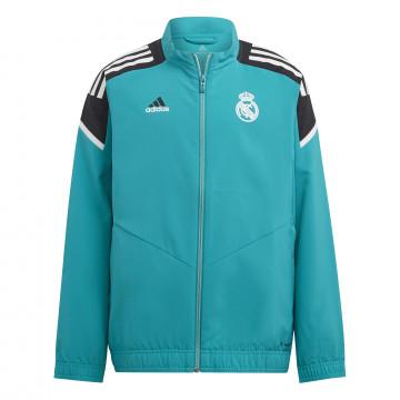 Veste survêtement junior Real Madrid vert 2021/22