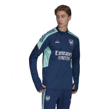 Sweat zippé Arsenal Europe bleu 2021/22