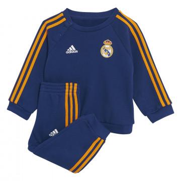 Ensemble survêtement bébé Real Madrid molleton bleu orange 2021/22
