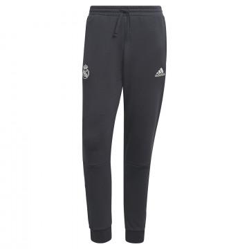Pantalon survêtement Real Madrid molleton noir blanc 2021/22
