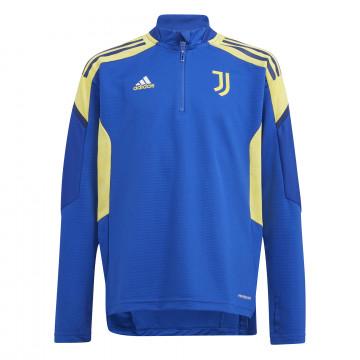 Sweat zippé junior Juventus Europe bleu jaune 2021/22