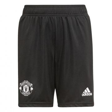 Short entraînement junior Manchester United noir rouge 2021/22