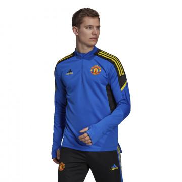 Sweat zippé Manchester United Europe bleu jaune 2021/22