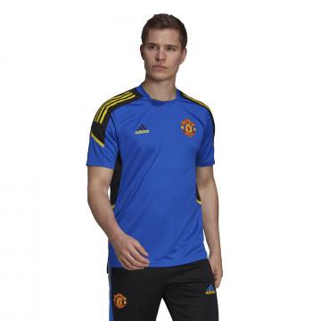 Maillot entraînement Manchester United bleu jaune 2021/22