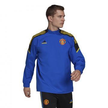 Sweat hybride Manchester United bleu jaune 2021/22
