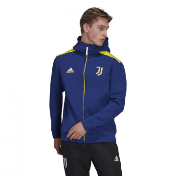 Veste survêtement Juventus ZNE bleu jaune 2021/22