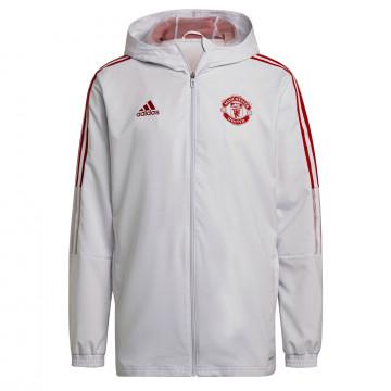 Veste survêtement Manchester United blanc rouge 2021/22