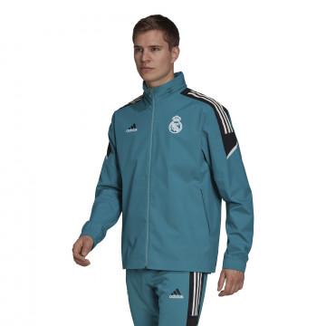 Veste imperméable Real Madrid bleu 2021/22