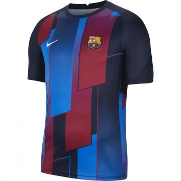 Maillot avant match FC Barcelone rouge bleu 2021/22