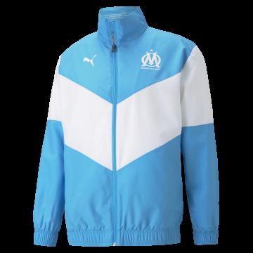 Veste junior avant match OM bleu 2021/22