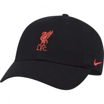 Casquette Liverpool H86 noir rouge 2021/22