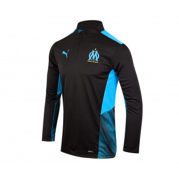 Sweat zippé OM noir bleu 2021/22