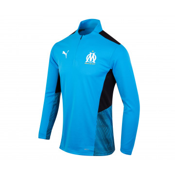 Sweat zippé OM bleu noir 2021/22