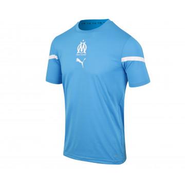 Maillot avant match OM bleu blanc 2021/22