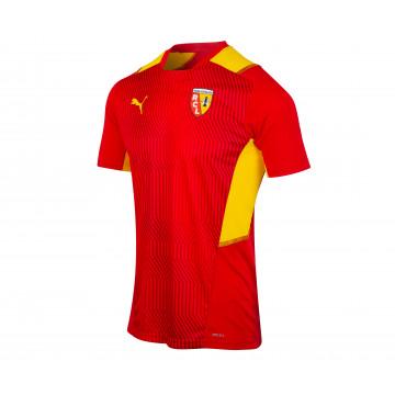Maillot entraînement junior RC Lens rouge jaune 2021/22