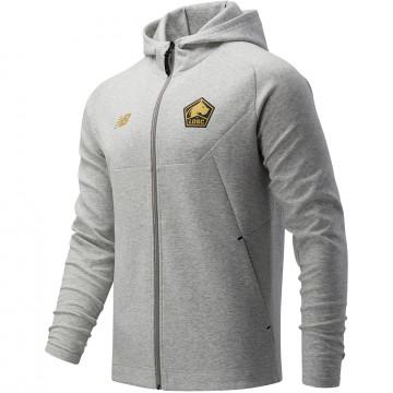 Veste survêtement à capuche LOSC gris or 2021/22