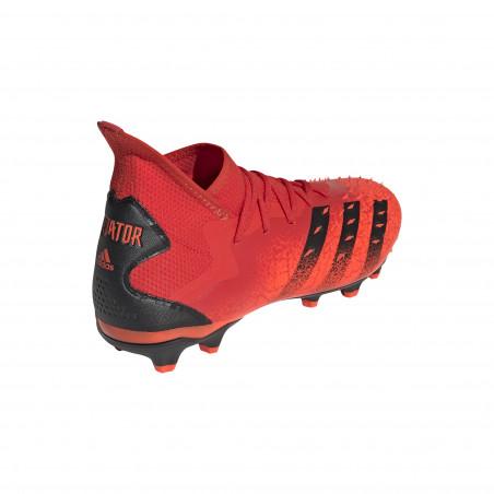 adidas Predator Freak.2 montante MG rouge noir