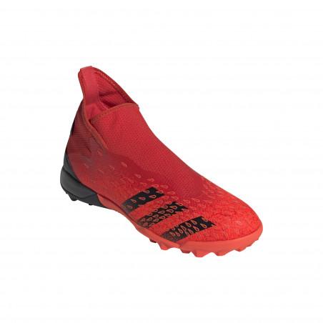 adidas Predator Freak.3 LaceLess montante Turf rouge noir