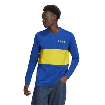 T-shirt manches longues Boca Juniors bleu jaune 2021
