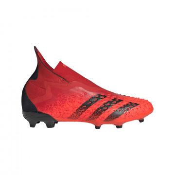 adidas Predator Freak+ junior montante FG rouge noir
