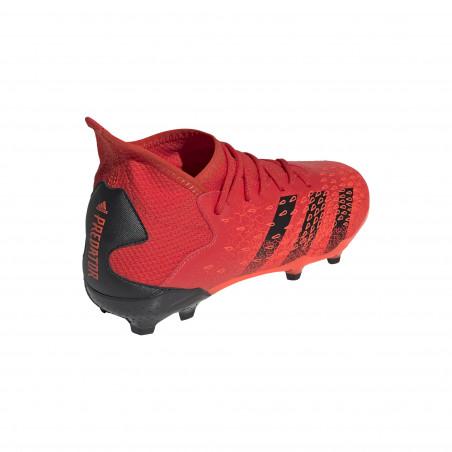 adidas Predator Freak.3 junior montante FG rouge noir
