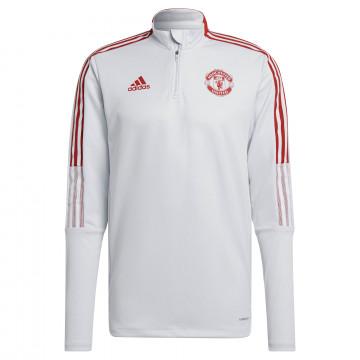 Sweat zippé Manchester United blanc rouge 2021/22