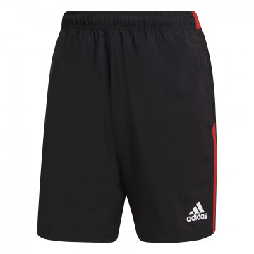 Short entraînement Manchester United noir rouge 2021/22