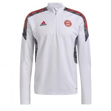 Sweat zippé Bayern Munich blanc rouge 2021/22