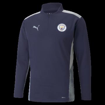 Sweat zippé Manchester City bleu gris 2021/22
